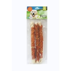 2Pets Tuggrulle med Kyckling 28 cm 3-pack, 250g